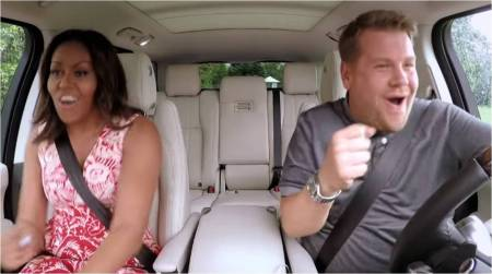 Carpool Karaoke_Michelle Obama+James Corden